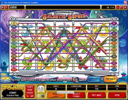The Adventures of Galatic Gopher review on Big Bonus Slots
