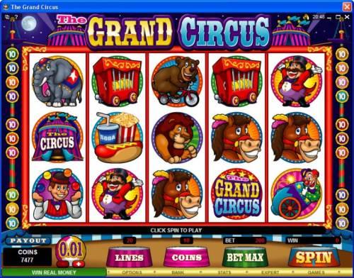The Grand Circus review on Big Bonus Slots