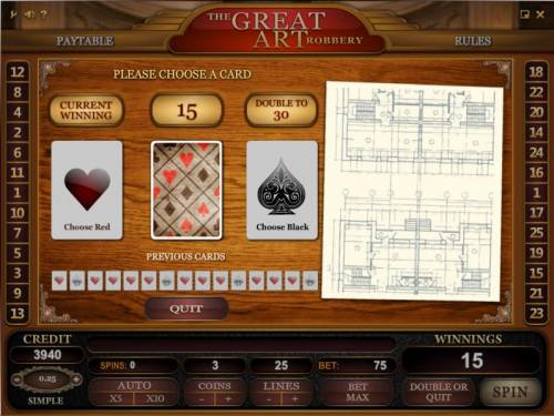 The Great Art Robbery review on Big Bonus Slots