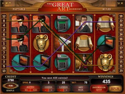 The Great Art Robbery review on Big Bonus Slots