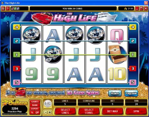 The High Life review on Big Bonus Slots