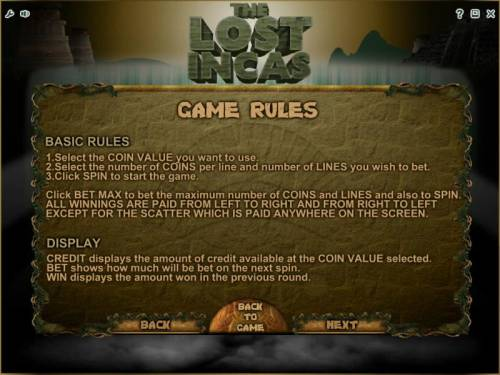 The Lost Incas review on Big Bonus Slots