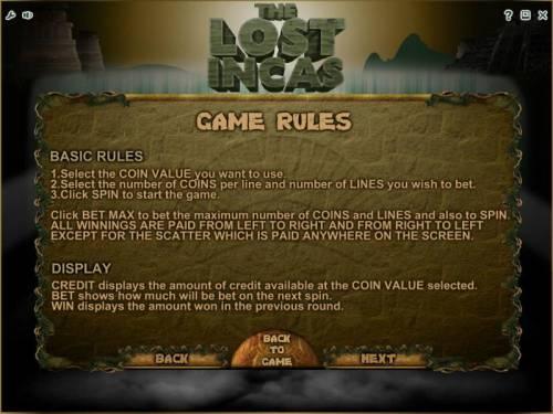 The Lost Incas review on Big Bonus Slots