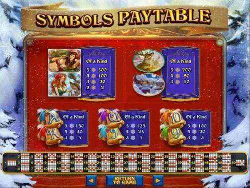 The Naughty List Big Bonus Slots Slot game symbols paytable