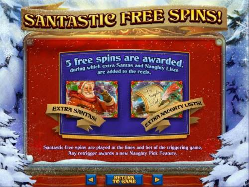 The Naughty List Big Bonus Slots Free Spins game rules