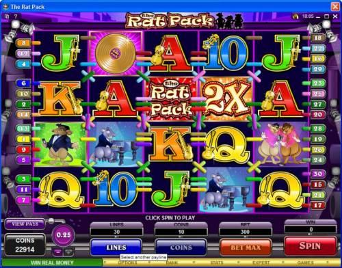 The Rat Pack review on Big Bonus Slots