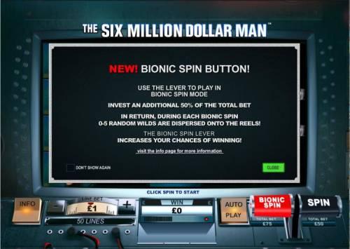 The Six Million Dollar Man review on Big Bonus Slots
