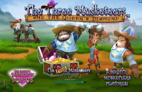 The Three Muskateers review on Big Bonus Slots