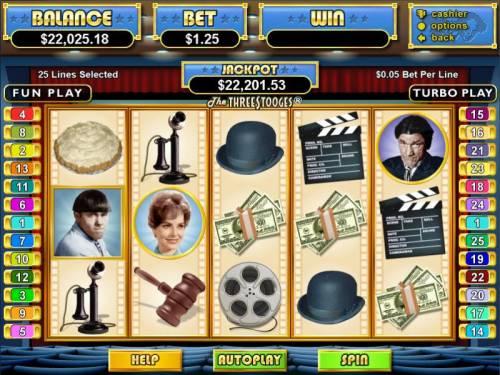 The Three Stooges review on Big Bonus Slots