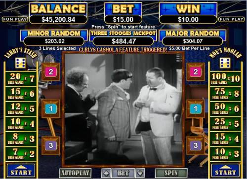 The Three Stooges II Big Bonus Slots Bonus Round