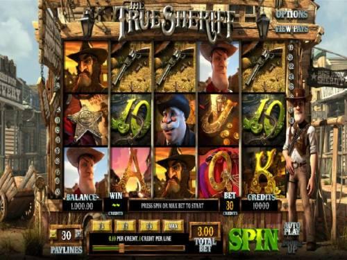 The True Sheriff review on Big Bonus Slots