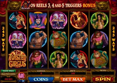 The Twisted Circus review on Big Bonus Slots