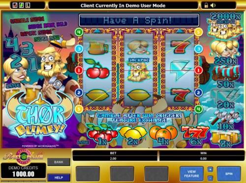 Thor Blimey! review on Big Bonus Slots