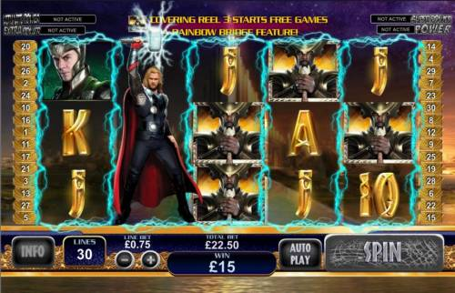 Thor the Mighty Avenger review on Big Bonus Slots
