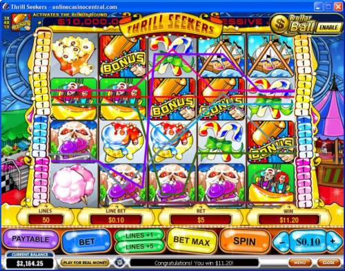 Thrill Seekers review on Big Bonus Slots