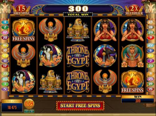 Throne of Egypt Big Bonus Slots here is the start of the free spins bonus feature