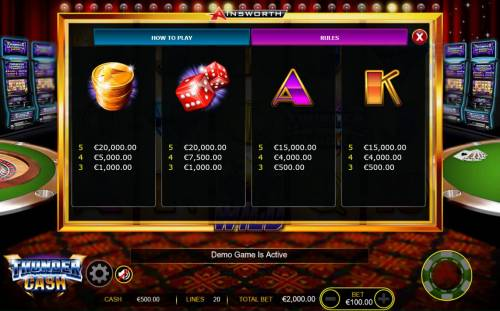 Thunder Cash review on Big Bonus Slots