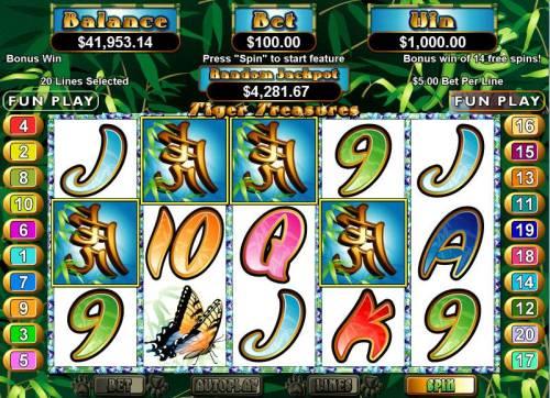 Tiger Treasures review on Big Bonus Slots