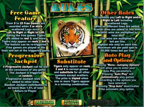 Tiger Treasures review on Big Bonus Slots