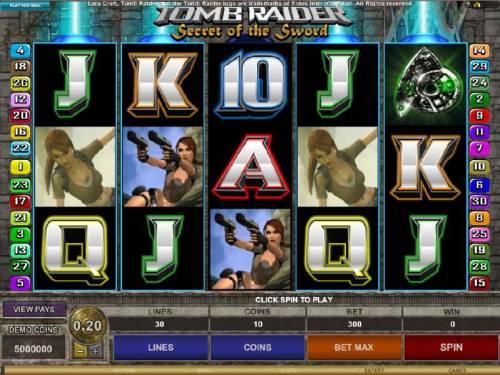 Tomb Raider Secret of the Sword review on Big Bonus Slots
