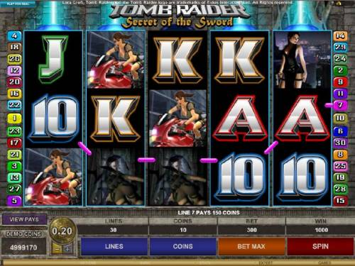 Tomb Raider Secret of the Sword review on Big Bonus Slots