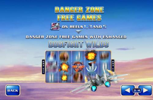Top Gun Big Bonus Slots Danger Zone Free Games - F-14 Tomcat on reels 1, 3 and 5 awards Danger Zone Free Games with enhanced dogfight wilds.