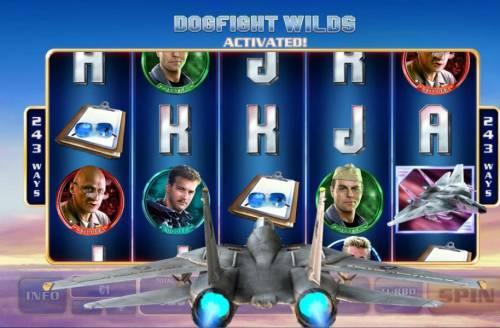 Top Gun Big Bonus Slots Dogfight Wilds Activated