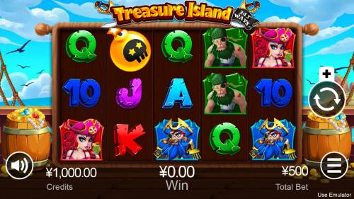 Treasure Island Big Bonus Slots Main Game Board