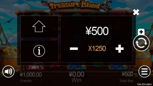 Treasure Island Big Bonus Slots Betting Options