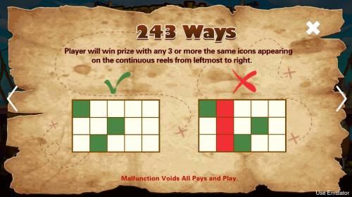 Treasure Island Big Bonus Slots 243 Ways to Win