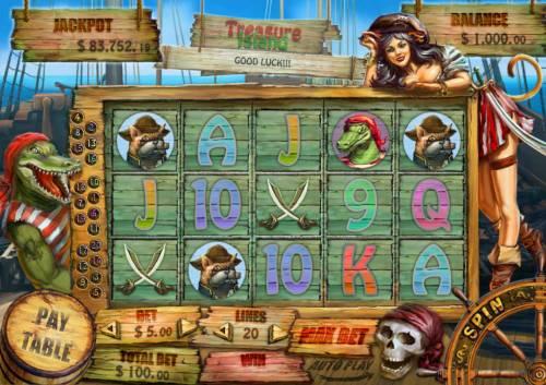 Treasure Island review on Big Bonus Slots