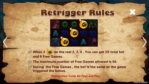 Treasure Island Big Bonus Slots Re-Trigger Rule