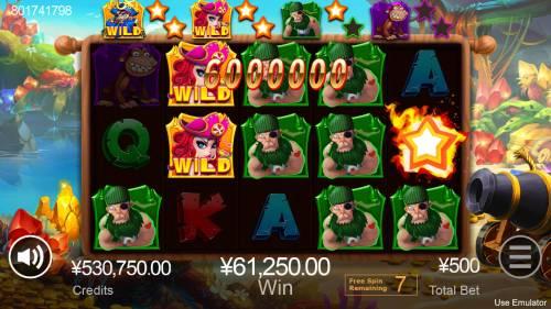 Treasure Island Big Bonus Slots Multiple winning combinations