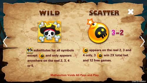 Treasure Island Big Bonus Slots Wild and Scatter Symbol Rules