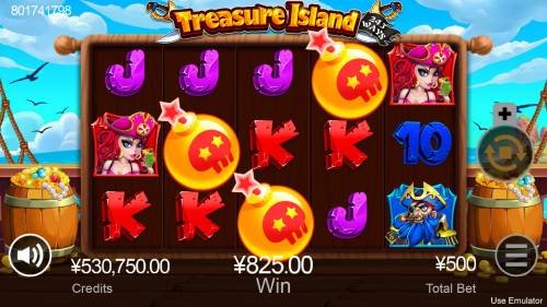 Treasure Island Big Bonus Slots Scatter win triggers the free spins feature