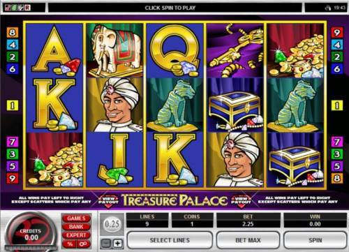 Treasure Palace review on Big Bonus Slots