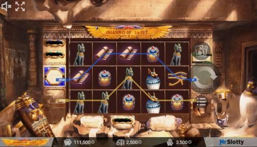 Treasures of Egypt Big Bonus Slots A 3500 coin payout