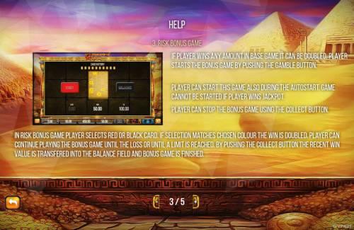 Treasures of Thebes Big Bonus Slots Gamble Feature Rules