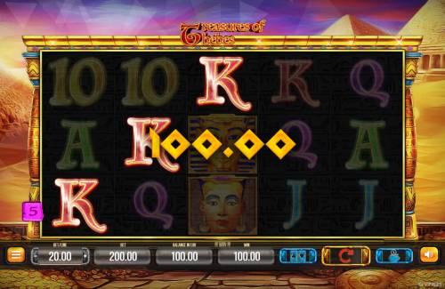 Treasures of Thebes Big Bonus Slots A winning three of a kind