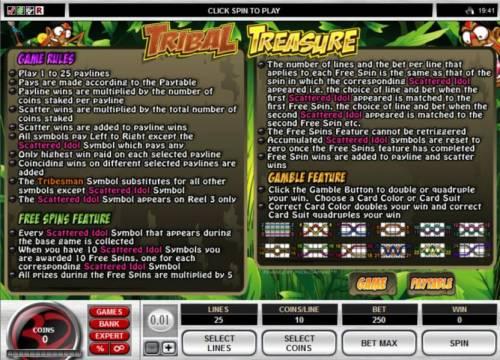 Tribal Treasure review on Big Bonus Slots
