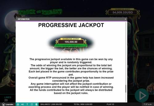 Trick or Treat Big Bonus Slots Progressive Jackpots Rules