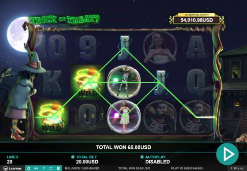 Trick or Treat Big Bonus Slots Multiple winning paylines