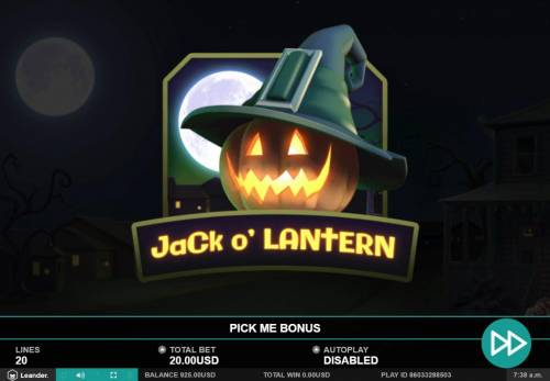 Trick or Treat Big Bonus Slots Jack O Lantern Pick Me Bonus