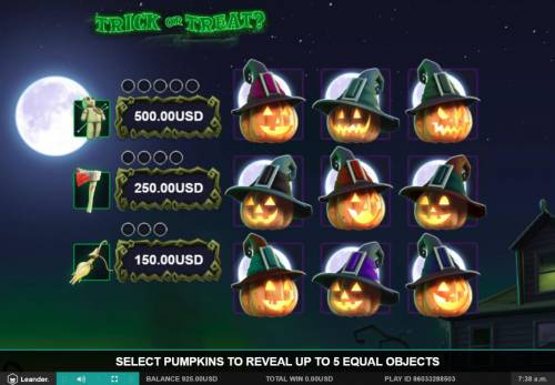 Trick or Treat Big Bonus Slots Select pumpkins to revel up to 5 equal objects