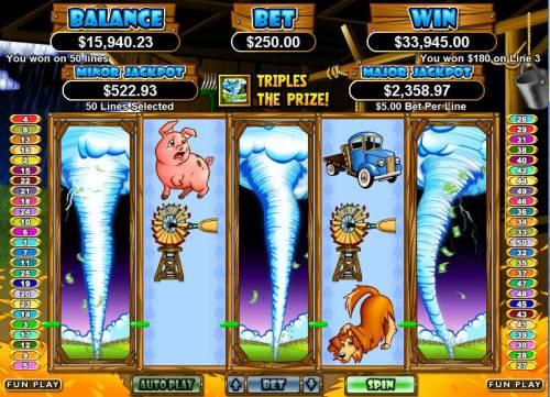 Triple Twister review on Big Bonus Slots