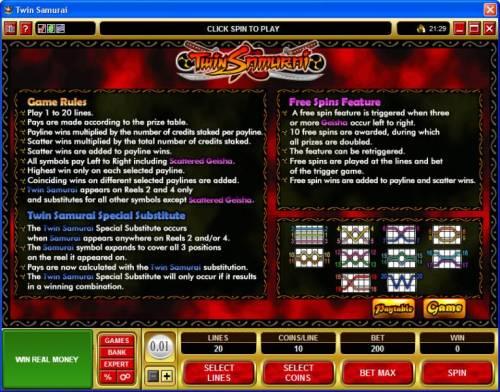 Twin Samurai review on Big Bonus Slots