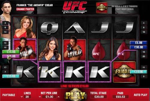 Ultimate Fighting Championship review on Big Bonus Slots