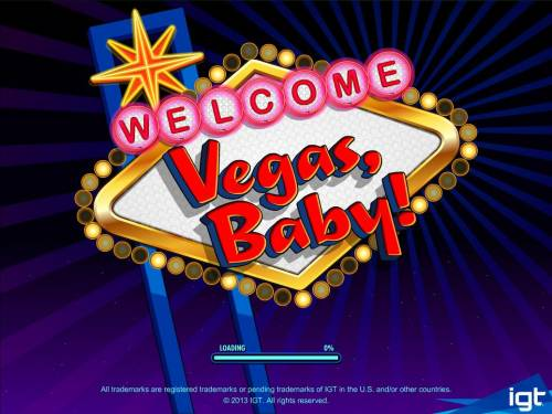 Vegas, Baby! Big Bonus Slots Splash screen - game loading - Vegas Theme