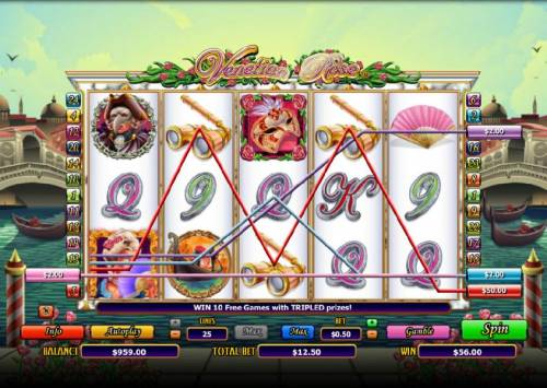 Venetian Rose review on Big Bonus Slots