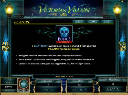 Victorian Villain review on Big Bonus Slots